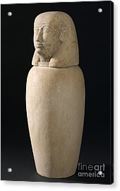 Canopic Jar, Egypt, 2000 Bce-100 Ce Acrylic Print by Wellcome Images