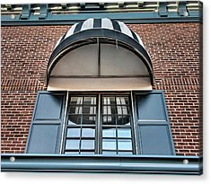 Acrylic Print featuring the photograph Canopy And Reflection In Window by Gary Slawsky