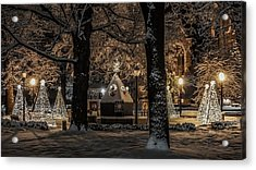 Acrylic Print featuring the photograph Canopy Of Christmas Lights by Kendall McKernon