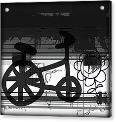 Can't Ride A Bike But I Can Fly Acrylic Print by Fania Simon