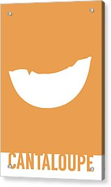 Cantaloupe Food Art Minimalist Fruit Poster Series 018 Acrylic Print by Design Turnpike