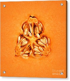Cantaloupe Melon Inside Acrylic Print by Johan Swanepoel