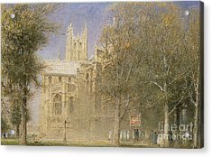 Canterbury Cathedral Acrylic Print by Albert Goodwin