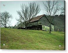 Cantilever Barn Sevier County Tennessee Acrylic Print by Douglas Barnett