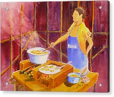 Cantina Kitchen Acrylic Print by Buster Dight