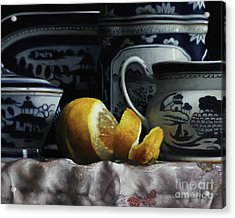 Canton/lemon/silk Acrylic Print by Larry Preston