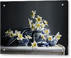 Canton With Daffodils Acrylic Print by Larry Preston