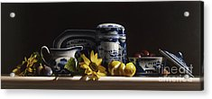 Canton With Sunflowers And Fruit Acrylic Print by Larry Preston