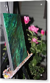 Acrylic Print featuring the photograph Canvas And Roses by Vadim Levin