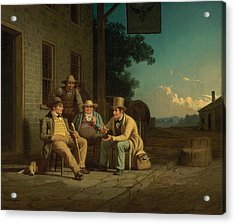 Canvassing For A Vote Acrylic Print by George Caleb Bingham