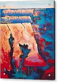 Acrylic Print featuring the painting Canyon Colors by M Diane Bonaparte