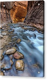 Acrylic Print featuring the photograph Canyon Glow River Flow by Pierre Leclerc Photography