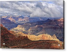 Acrylic Print featuring the photograph Canyon Layers by Beverly Parks