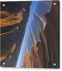 Acrylic Print featuring the digital art Canyon by Lyle Hatch