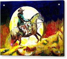 Acrylic Print featuring the painting Canyon Moon by Seth Weaver