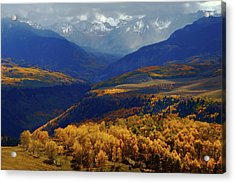 Acrylic Print featuring the photograph Canyon Shadows And Light From Last Dollar Road In Colorado During Autumn by Jetson Nguyen