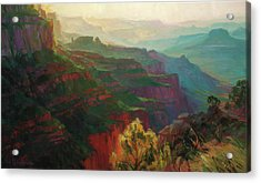 Canyon Silhouettes Acrylic Print