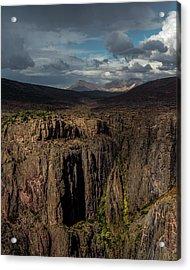Canyon Wall Acrylic Print