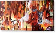 Canyon Walls Acrylic Print