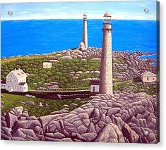Cape Ann Twin Towers Acrylic Print by Frederic Kohli