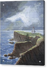 Cape Arago Lighthouse Acrylic Print by Jerry McElroy