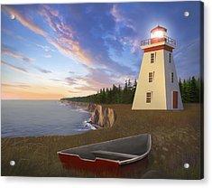 Cape Bear Light Acrylic Print by James Charles