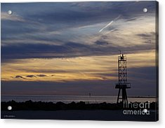 Cape Charles Sunset Acrylic Print by Tannis Baldwin