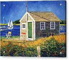 Cape Cod Boat House Acrylic Print by David Lloyd Glover
