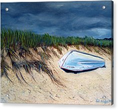 Cape Cod Boat Acrylic Print by Paul Walsh