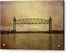 Cape Cod Canal And Bridges Acrylic Print by Dave Gordon