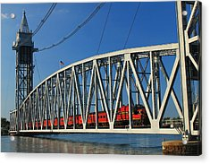 Cape Cod Canal Railroad Bridge Train Acrylic Print