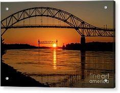 Cape Cod Canal Sunset Acrylic Print