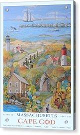 Cape Cod Acrylic Print by Ezartesa Art