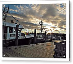 Cape Cod Harbor Acrylic Print by Joan  Minchak