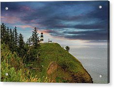 Cape Disappointment After Sunset Acrylic Print by David Gn