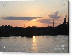 Sunset Over Cape Fear River North Carolina Acrylic Print