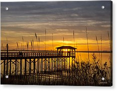 Cape Fear Sunset Fort Fisher Acrylic Print