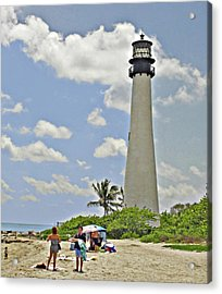 Cape Florida Lighthouse Acrylic Print by Allan Einhorn