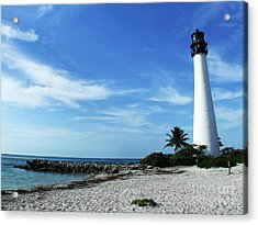 Cape Florida Lighthouse Acrylic Print by Tammy Chesney