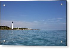 Cape Florida Lighthouse Acrylic Print by William Wetmore
