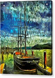 Acrylic Print featuring the photograph Cape Foulweather Tall Ship by Thom Zehrfeld