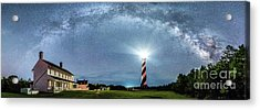 Cape Hatteras Light House Milky Way Panoramic Acrylic Print