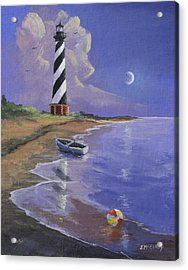 Cape Hatteras Lighthouse Acrylic Print by Jerry McElroy
