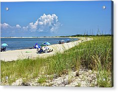 Acrylic Print featuring the photograph Cape Henlopen State Park - Beach Time by Brendan Reals