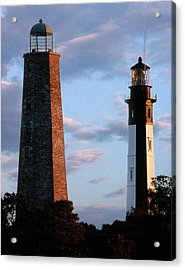 Cape Henry Lighthouses In Virginia Acrylic Print