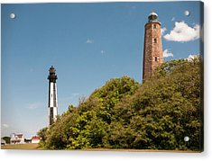 Cape Henry Lighthouses Old And New Acrylic Print