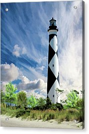 Acrylic Print featuring the painting Cape Lookout Lighthouse by Christopher Arndt