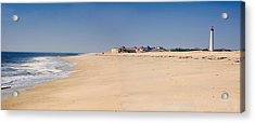 Cape May Beach Panorama New Jersey Acrylic Print by George Oze