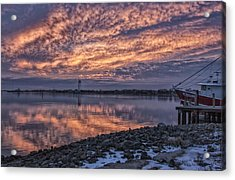Cape May Harbor Sunrise Acrylic Print by Tom Singleton