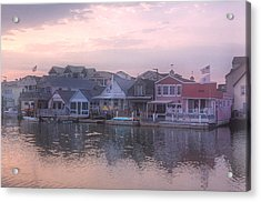 Cape May Harbor Acrylic Print by Tom Singleton
